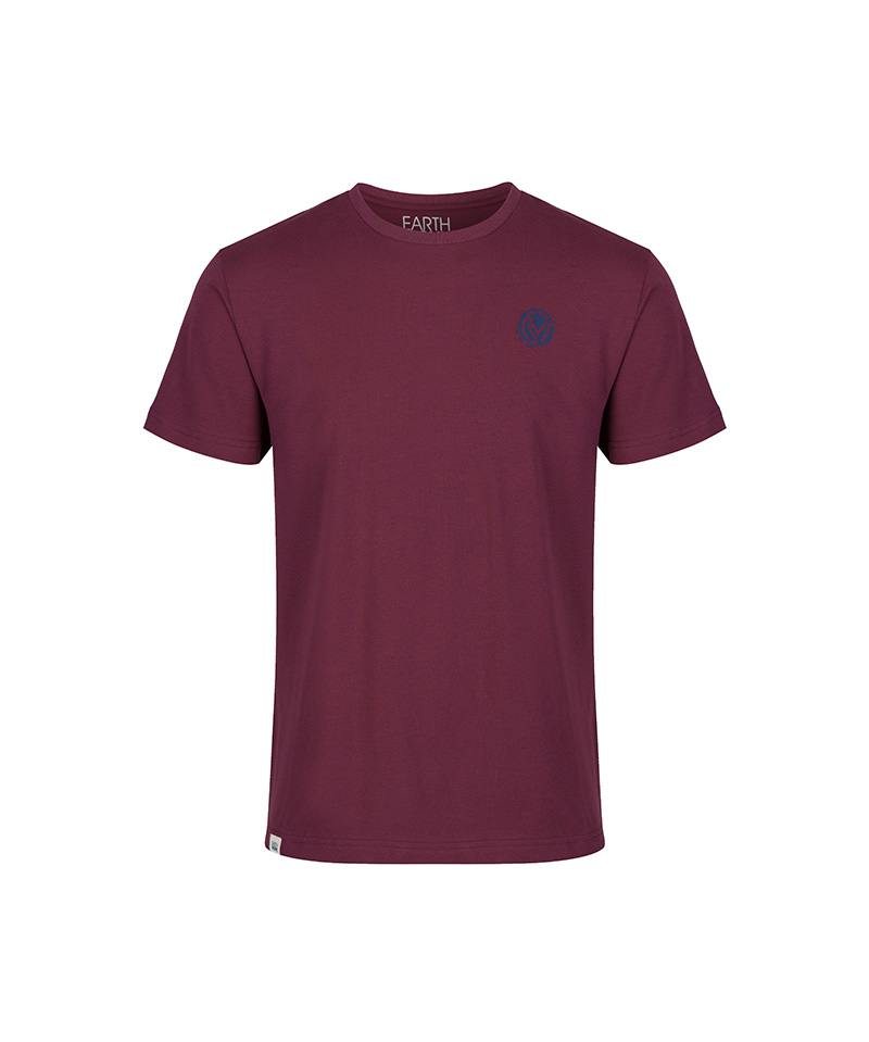 The front of the raisin short sleeve, Heart inspired T-shirt 'Go Beyond Beyond.'
