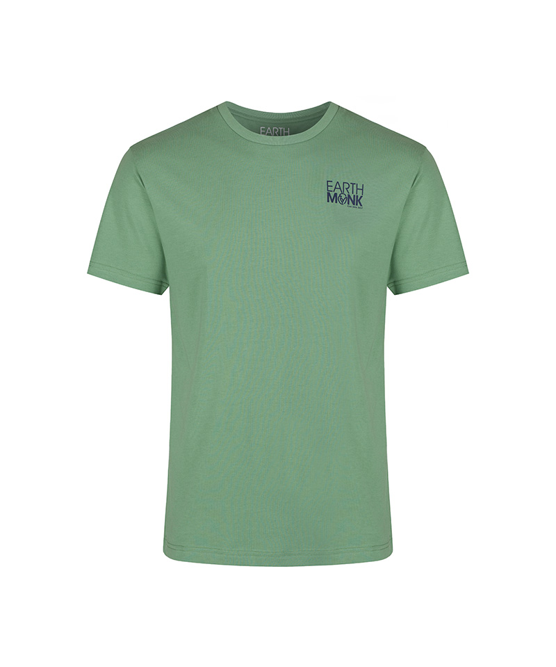 The front of the Lao Tze inspired sage green T-shirt, 'flow with the way of things.'