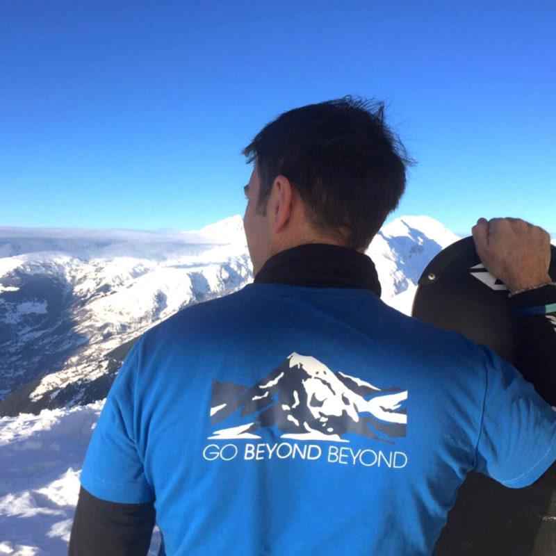 'Go Beyond Beyond,' ultramarine short sleeve T-shirt