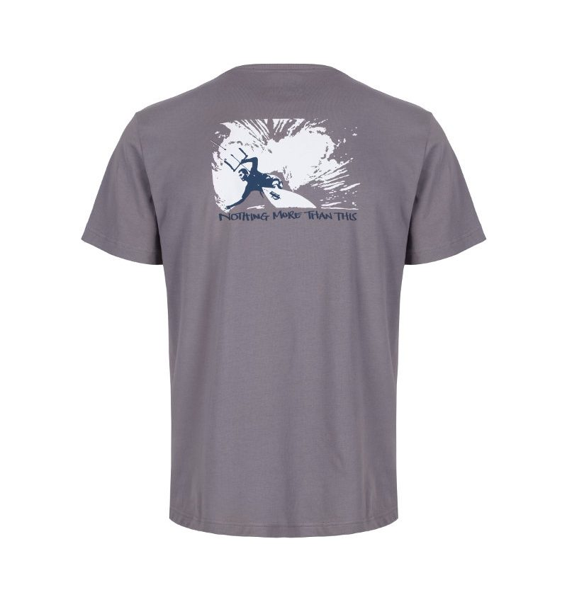 Kitesurfing and mindfulness organic cotton t'shirt
