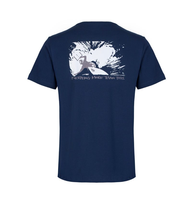 The navy, kitesurfing & mindfulness T-shirt 'nothing more than this.'