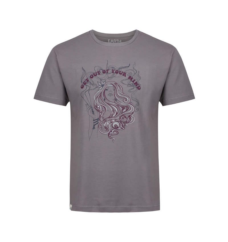 Summer of Love inspired fossil grey mindful t-shirt