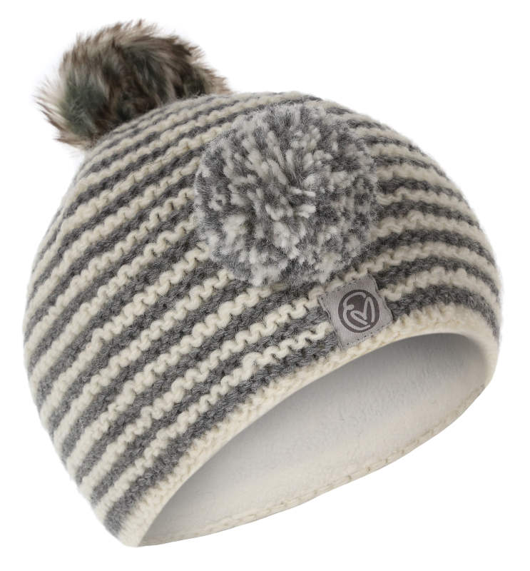 3d839f98b Womens Hand Knitted Grey & White Changeable Bobble Beanie - Earthmonk