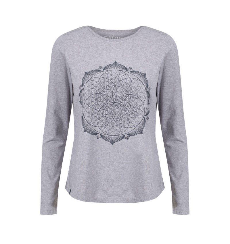 geometry-metallic-navy-lotus-flower-mandala-spiritual-t-shirt-product-image-3