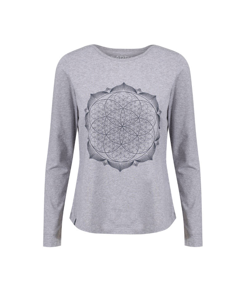 geometry-metallic-navy-lotus-flower-mandala-spiritual-t-shirt-product-image-3