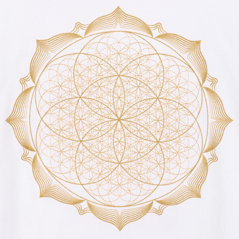 Close-up-showing-lotus-flower-spiritual-mandala-t-shirt
