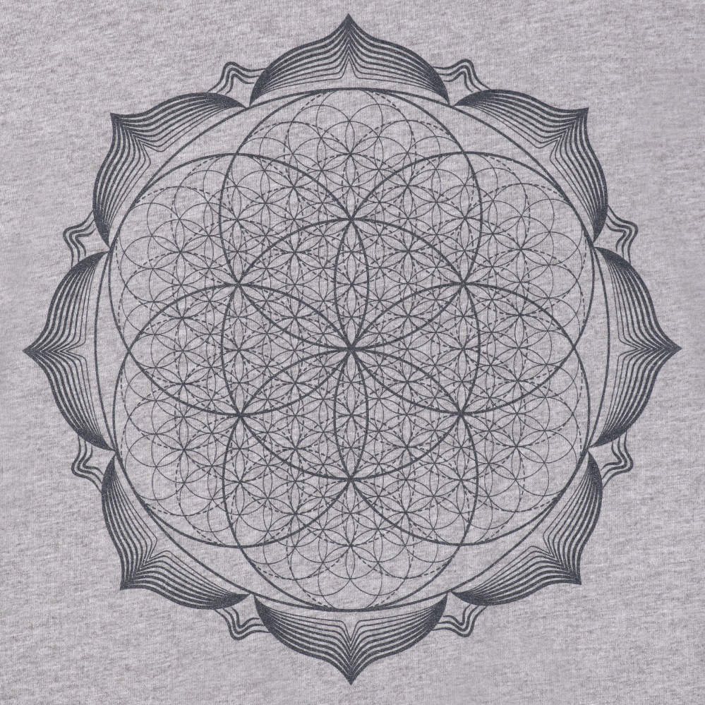 Mandala Flower Of Life Spiritual Design Mens T-Shirt Short Sleeve 100/% Cotton
