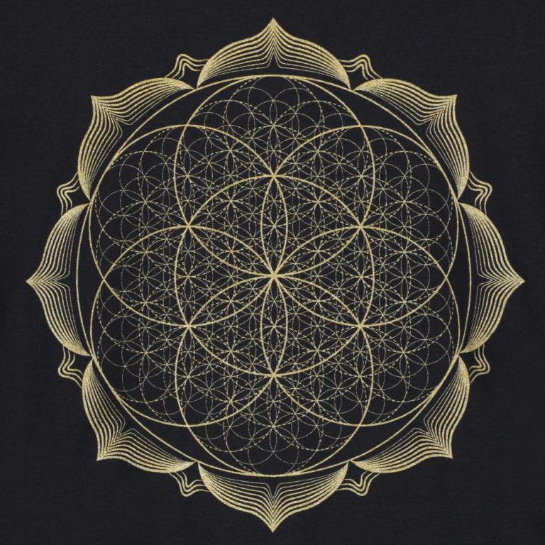 geometry-metallic-gold-lotus-flower-mandala-spiritual-t-shirt-product-image-1