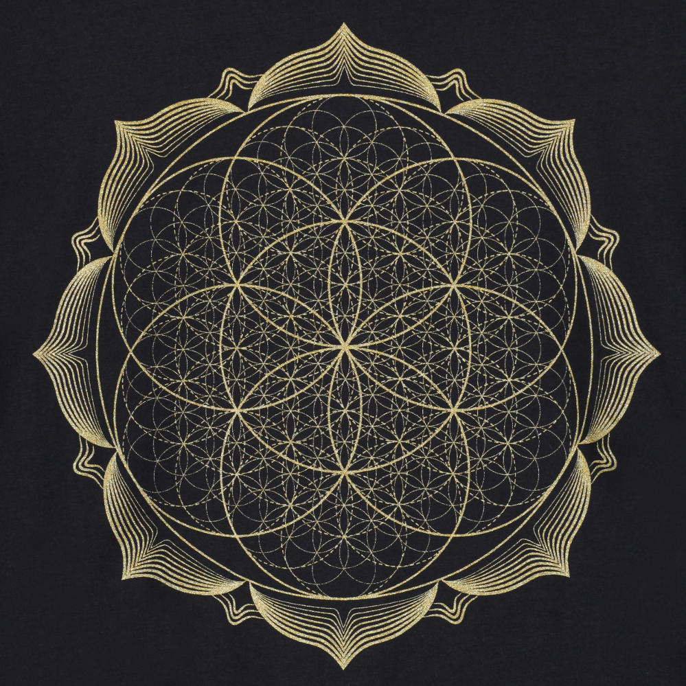 geometry-metallic-gold-lotus-flower-mandala-spiritual-t-shirt-product-image-1
