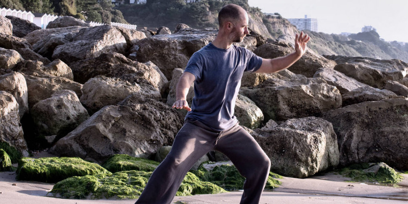 stuart ward tai chi on the beach