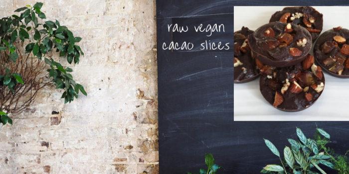 raw vegan cacao slice recipe