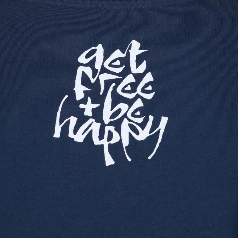 Spiritual t-shirt Get Free & Be Happy inspired by Lokah Samastah Sukhino Bhavantu