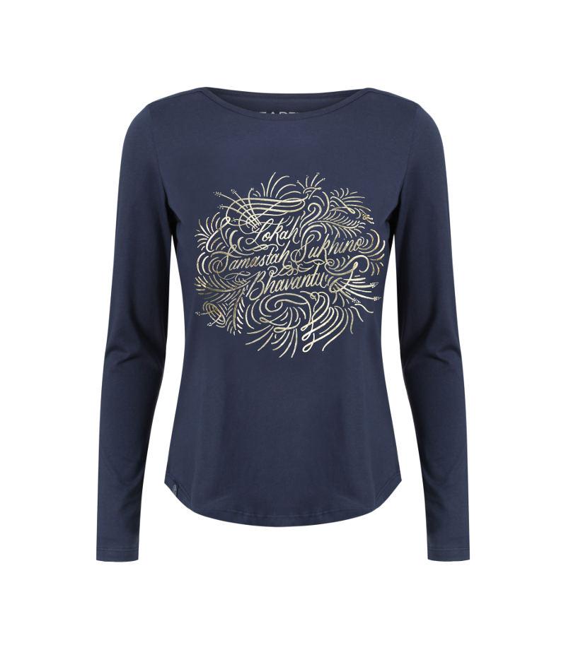 lokah samastah sukhino bhavantu gold mandala t-shirt product image