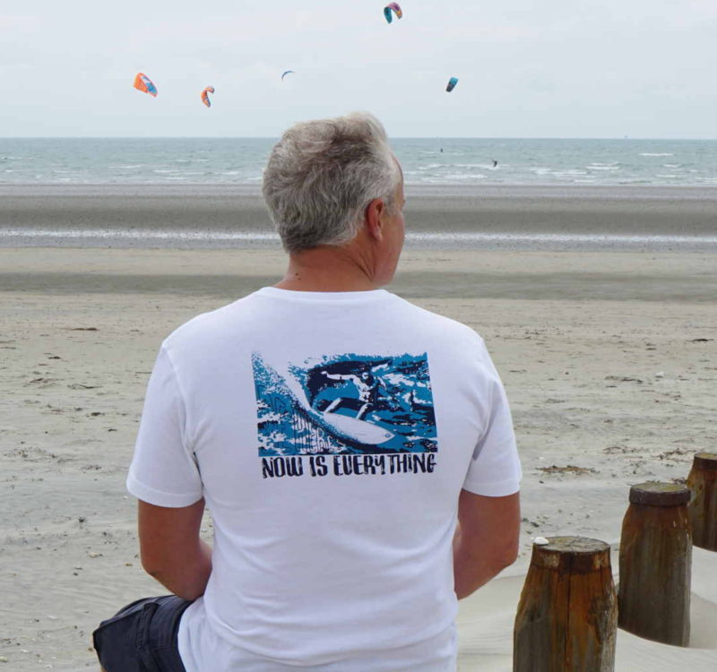 A surfing and mindfulness t-shirt